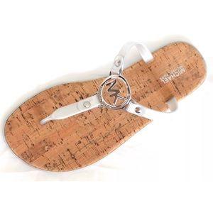 Silver Michael Kors sandals flip flop jelly cork
